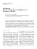"Báo cáo hóa học: "" Research Article Evaluating Multiple Object Tracking Performance: The CLEAR MOT Metrics"""
