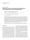 "Báo cáo hóa học: "" Research Article Identification of Sparse Audio Tampering Using Distributed Source Coding and Compressive Sensing Techniques"""