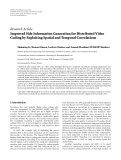 """Báo cáo hóa học: """"Research Article Improved Side Information Generation for Distributed Video Coding by Exploiting Spatial and Temporal Correlations"""""""