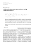 "Báo cáo hóa học: "" Research Article Scalable and Media Aware Adaptive Video Streaming over Wireless Networks"""