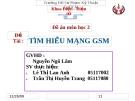 Đề tài: Tìm hiểu mạng GSM