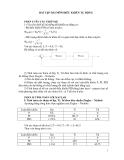Bài tập môn điều khiển tự động