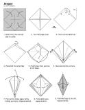 Cách xếp rồng Châu Âu bằng giấy