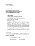 """Báo cáo hóa học: """" Research Article Boundedness of the Maximal, Potential and Singular Operators in the Generalized Morrey Spaces"""""""
