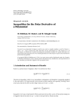 """Báo cáo hóa học: """" Research Article Inequalities for the Polar Derivative of a Polynomial"""""""