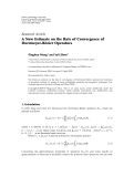 """Báo cáo hóa học: """"  Research Article A New Estimate on the Rate of Convergence of ´ Durrmeyer-Bezier Operators"""""""