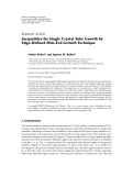 """Báo cáo hóa học: """" Research Article Inequalities for Single Crystal Tube Growth by Edge-Defined Film-Fed Growth Technique"""""""