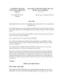 Quy chế số 21 QC/LT VPCTNTANDTC