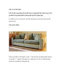 Sofa và các kiểu dáng