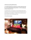 Tô điểm phòng ngủ bằng phần đầu giường