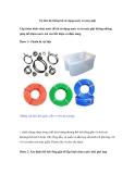 Tự làm hệ thống tái sử dụng nước xả máy giặt
