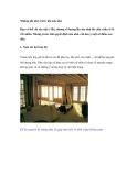 Những ghi nhớ trước khi sửa nhà