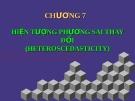 Môn học kinh tế lượng - Hiện tượng phương sai thay đổi