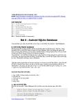 Hướng dẫn lập trình cơ bản với Android - Bài 6