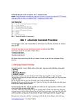 Hướng dẫn lập trình cơ bản với Android - Bài 7