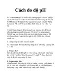 Cách đo độ pH