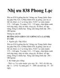 Nhị ưu 838 Phong Lạc