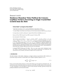 """Báo cáo hóa học: """"   Research Article Nonlinear Boundary Value Problem for Concave Capillary Surfaces Occurring in Single Crystal Rod Growth from the Mel"""""""