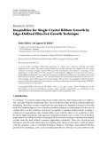 """Báo cáo hóa học: """"  Research Article Inequalities for Single Crystal Ribbon Growth by Edge-Defined Film-Fed Growth Technique"""""""
