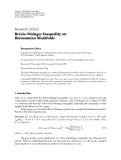 "Báo cáo hóa học: ""Research Article ´ Brezis-Wainger Inequality on Riemannian Manifolds"""