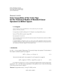 """Báo cáo hóa học: """" Research Article ¨ Some Inequalities of the Gruss Type for the Numerical Radius of Bounded Linear Operators in Hilbert Spaces"""""""