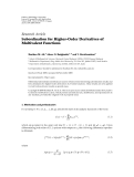"""Báo cáo hóa học: """" Research Article Subordination for Higher-Order Derivatives of Multivalent Functions"""""""