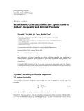 """Báo cáo hóa học: """"Review Article Refinements, Generalizations, and Applications of Jordan's Inequality and Related Problems"""""""