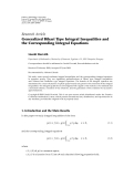 """Báo cáo hóa học: """"Research Article Generalized Bihari Type Integral Inequalities and the Corresponding Integral Equations"""""""
