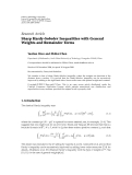 """Báo cáo hóa học: """"Research Article Sharp Hardy-Sobolev Inequalities with General Weights and Remainder Terms"""""""