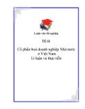 Đề tài: Cổ phần hoá doanh nghiệp Nhà nước ở Việt Nam lí luận và thực tiễn