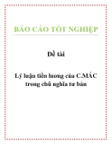 Đề tài: Lý luận tiền luơng của C.MÁC trong chũ nghĩa tư bản