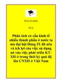 """Đề tài """"Phân tích cơ cấu kinh tế nhiều thành phần ở nước ta mà đại hội Đảng IX đã nêu và ích lợi của việc sử dụng nó vào việc phát triển KT-XH ở trong thời kỳ quá độ lên CNXH ở Việt Nam""""."""
