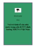 """Đề  tài: """"Vai trò kinh tế của nhà nước trong nền KTTT định hướng XHCN ở Việt Nam""""."""