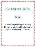 Đề án: Cơ sở lý luận triết học của đường lối công nghiệp hóa, hiện đại hoá  ở Việt Nam trong thời kỳ quá độ