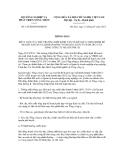 Thông báo số 145/TB-BNN-ĐMDN