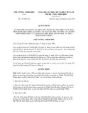 Quyết định số 116/QĐ-TTg