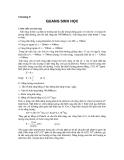 Chương 8: QUANG SINH HỌC