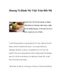 Hương Vị Bánh Mỳ Việt Trên Đất Mỹ