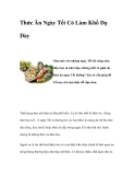 Thức Ăn Ngày Tết Có Làm Khổ Dạ Dày