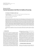 """Báo cáo hóa học: """"Research Article Practical Gammatone-Like Filters for Auditory Processing"""""""