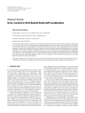 """Báo cáo hóa học: """" Research Article Error Control in Distributed Node Self-Localization"""""""