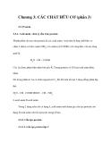 Chương 3: CÁC CHẤT HỮU CƠ (phần 3)