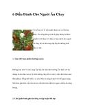6 Điều Dành Cho Người Ăn Chay