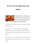 Ăn Chay Tốt Cho Bệnh Nhân Tiểu Đường