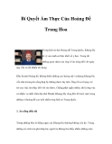 Bí Quyết Ẩm Thực Của Hoàng Đế Trung Hoa