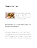 Khoẻ Khi Ăn Chay