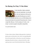 Xu Hướng Ăn Chay trong ẩm thực Vì Sức Khỏe