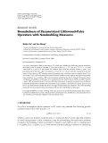 """Báo cáo hóa học: """"  Research Article Boundedness of Parametrized Littlewood-Paley Operators with Nondoubling Measures"""""""