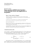 "Báo cáo hóa học: ""  Research Article Representation of Multivariate Functions via the Potential Theory and Applications to Inequalities'"