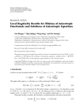 """Báo cáo hóa học: """"  Research Article Local Regularity Results for Minima of Anisotropic Functionals and Solutions of Anisotropic Equations"""""""